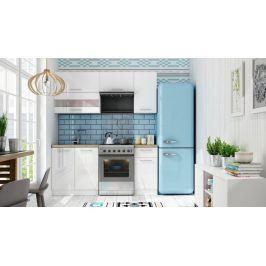 Kuchyně Aurora - 180 cm (bílá vysoký lesk)