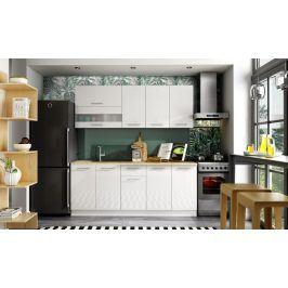 Kuchyně Aurora - 200 cm (bílá vysoký lesk)