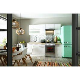 Kuchyně Aurora - 220 cm (bílá vysoký lesk)