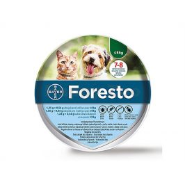 FORESTO antiparazitní obojek pro kočky a malé psy do 8kg 38cm