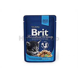 Kapsička BRIT Premium with Chicken Chunks for Kitten 100g