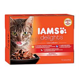 Kapsička IAMS Cat Delights Land Collection in Gravy Multipack (1