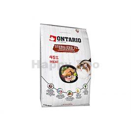 ONTARIO Cat Fresh Meat Sterilized 7+ Chicken & Salmon 6,5kg