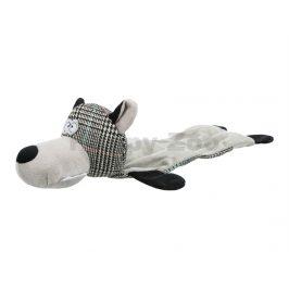 Hračka TRIXIE plyš - vlk ležící bez výplně se zvukem 38cm