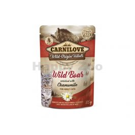 Kapsička CARNILOVE Cat Fillet Wild Boar with Chamomile 85g