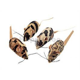 Hračka pro kočky FLAMINGO - plyšová hnědá myš s catnipem 5cm (4k