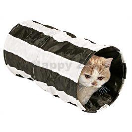 Nylonový tunel pro kočky FLAMINGO pruhovaný šustící 25x50cm (MIX