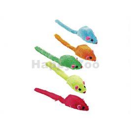 Hračka pro kočky FLAMINGO - plyšová barevná myš s catnipem 5cm (