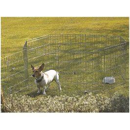 Kovová ohrádka SAVIC Dog Park 2 (8 dílů o velikosti 61x91cm, s d