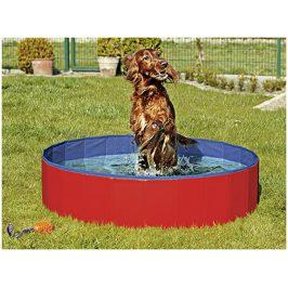 Bazén pro psy FLAMINGO Doggy Pool červenomodrý 30x120cm