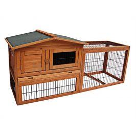 Dřevěná klec pro králíky FLAMINGO Sunshine 155x53x70cm