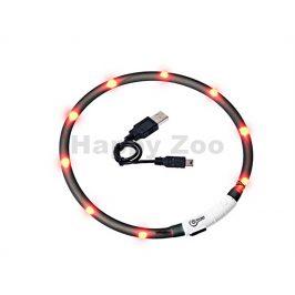 Svítící obojek FLAMINGO Visio Light černý s LED diodami 70cm (up