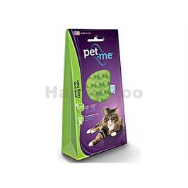 Silikonový kartáč PET AND ME na kočky na dlouhou srst (zelený)