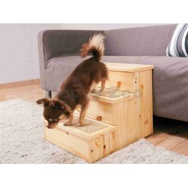 Dřevěné schody TRIXIE pro psy a kočky 40x38x45cm (do max. 50kg)
