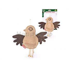 Hračka TOMMI Natural Only kůže - vrabec 22x20cm