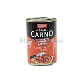 Konzerva GRAN CARNO Senior hovězí a krůtí srdce 800g