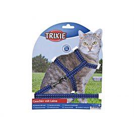 Postroj s vodítkem pro kočku TRIXIE s reflexními proužky 22-42x1
