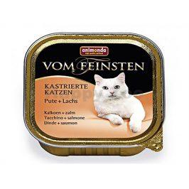 Paštika VOM FEINSTEN Castrate krůtí a losos 100g (kočka)