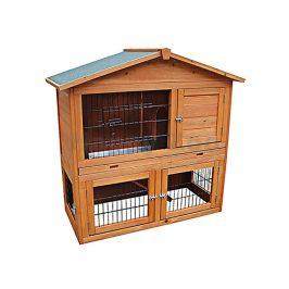 Dřevěná klec pro králíky FLAMINGO Lodge 101,5x54x100cm