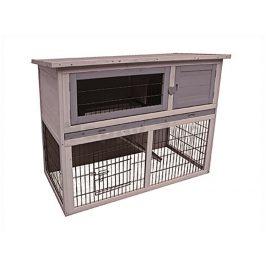 Dřevěná klec pro králíky FLAMINGO Duplex Cottage 114x60x90cm