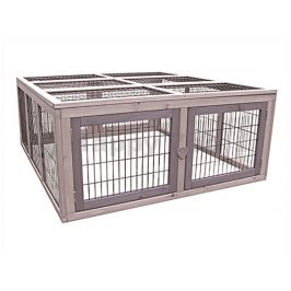 Dřevěná klec pro králíky FLAMINGO Arena Cottage 107x116x47/81cm