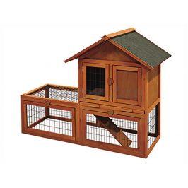 Dřevěná klec pro králíky FLAMINGO Salsa 136x65x100cm