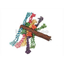 Hračka pro ptáky FLAMINGO - bidlo s provazy 5x30x15cm