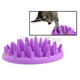 Miska FLAMINGO protihltací pro kočku fialová 27x23x8cm