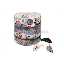 Hračka pro kočky FLAMINGO - myš 5cm (MIX BAREV)