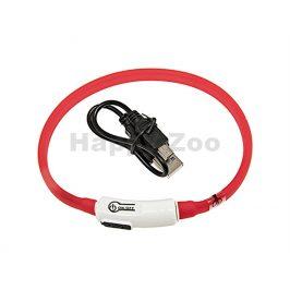 Svítící obojek FLAMINGO Visio Light červený s LED diodami 35cm (