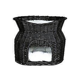 Proutěné iglu TRIXIE černé s odpočívadlem 54x43x37cm