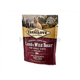 CARNILOVE Cat Lamb & Wild Boar for Adult Cats Sterilised 400g