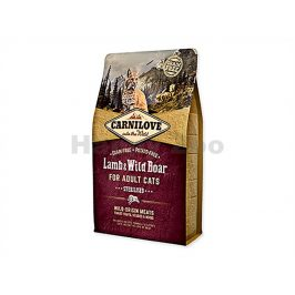 CARNILOVE Cat Lamb & Wild Boar for Adult Cats Sterilised 2kg