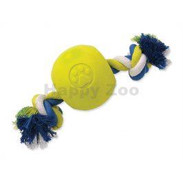 Hračka DOG FANTASY guma - Strong Foam míč s provazem 8,2cm
