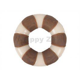 Hračka FLAMINGO nylon - kruh s kuřecí kůží 10cm