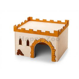 Dřevěný domek JK Hrad č.3 pro morčata 24x18x16cm