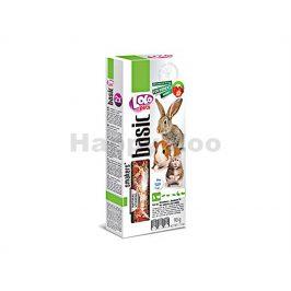 Tyčky LOLO Basic jahodové pro hlodavce 90g (2ks)