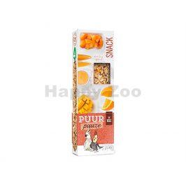 Tyčinky PUUR Pauze Snack - mango a meruňka pro papoušky 140g (2k