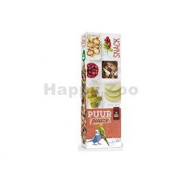 Tyčinky PUUR Pauze Snack - jablko a šípek pro andulky 60g (2ks)