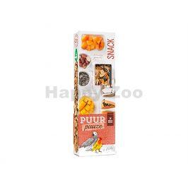Tyčinky PUUR Pauze Snack - kokos a papája pro papoušky 140g (2ks