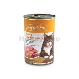 Konzerva PERFECT CAT Chicken & Chicken Hearts 400g
