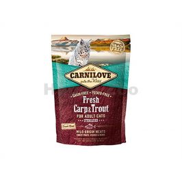 CARNILOVE Cat Fresh Carp & Trout Sterilized 400g