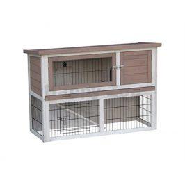 Dřevěná klec pro králíky FLAMINGO Loft Urban 111x45x78cm