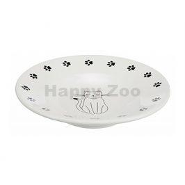 Keramická miska TRIXIE bílý talířek 0,2l (15cm)