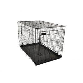Klec pro psy FLAMINGO Ebo černá 43x61x50cm (2 dveře)