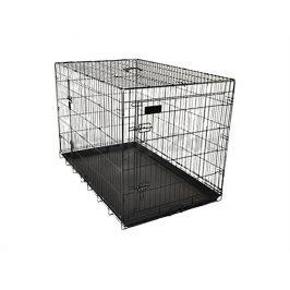 Klec pro psy FLAMINGO Ebo černá 47x77x55cm (2 dveře)