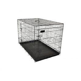 Klec pro psy FLAMINGO Ebo černá 56x92x64cm (2 dveře)