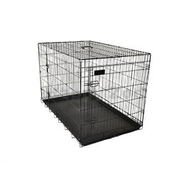 Klec pro psy FLAMINGO Ebo černá 70x109x77cm (2 dveře)