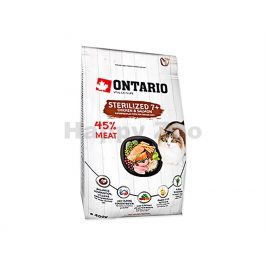 ONTARIO Cat Fresh Meat Sterilized 7+ Chicken & Salmon 0,4kg