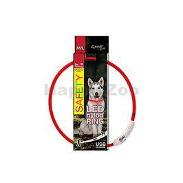 Svítící obojek DOG FANTASY LED nylonový červený (M-L) 65cm